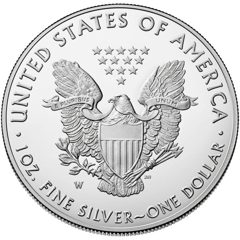2019 American Eagle Silver One Ounce Proof Coin Reverse