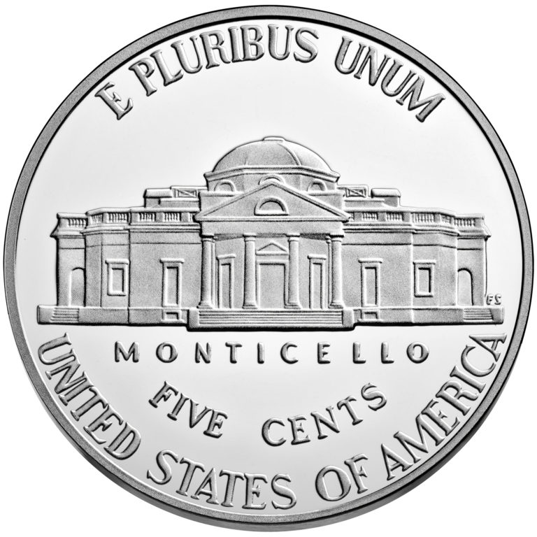 2019 Jefferson Nickel Proof Reverse