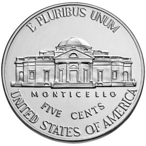 2019 Jefferson Nickel Uncirculated Reverse
