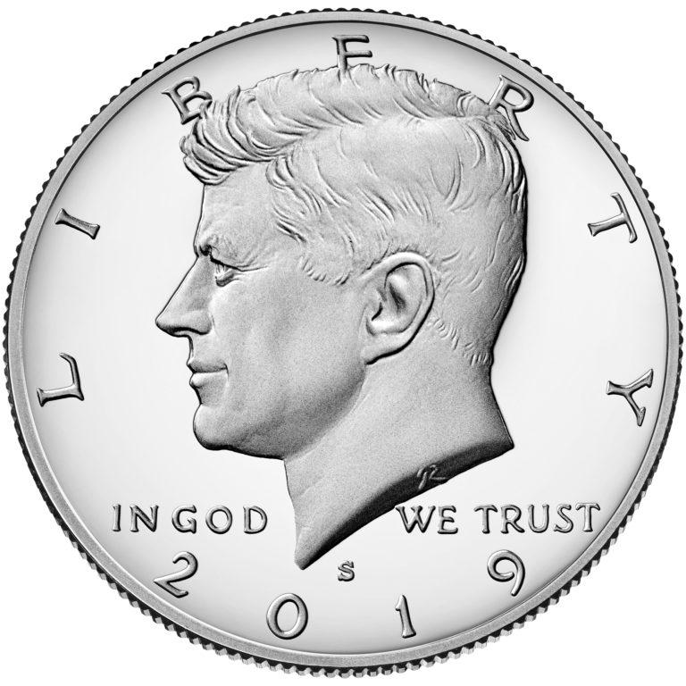 2019 Kennedy Half Dollar Proof Obverse San Francisco