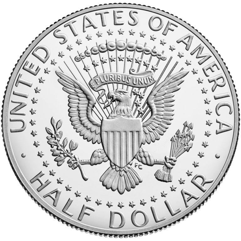2019 Kennedy Half Dollar Proof Reverse