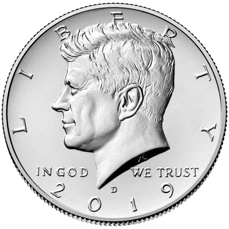 2019 Kennedy Half Dollar Uncirculated Obverse Denver