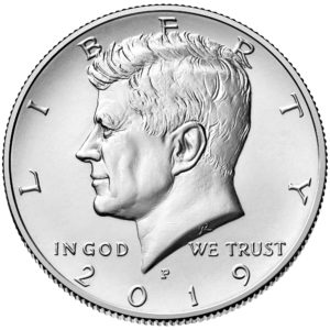 2019 Kennedy Half Dollar Uncirculated Obverse Philadelphia