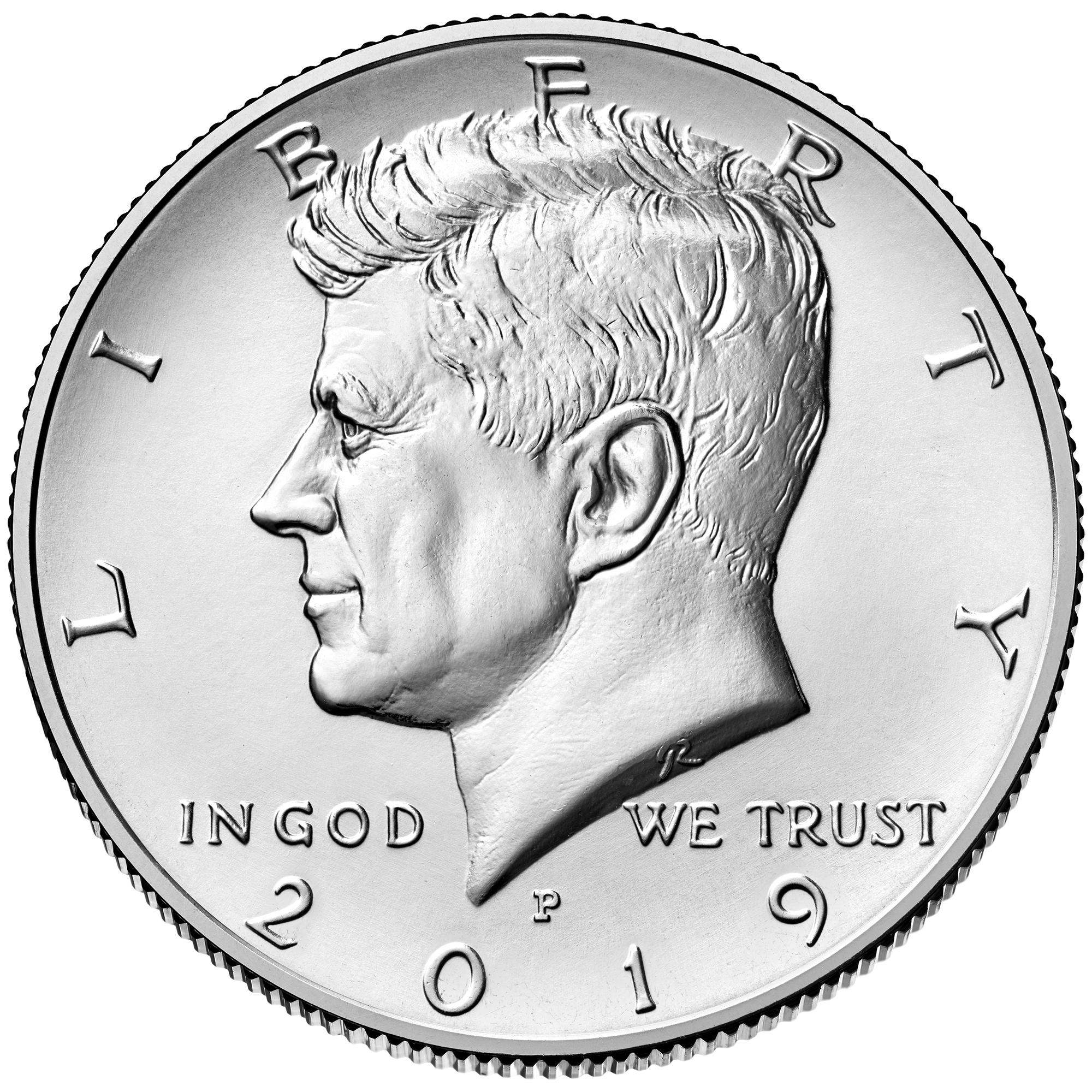 2019 Kennedy Half Dollar Uncirculated Obverse Philadelphia