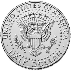 2019 Kennedy Half Dollar Uncirculated Reverse