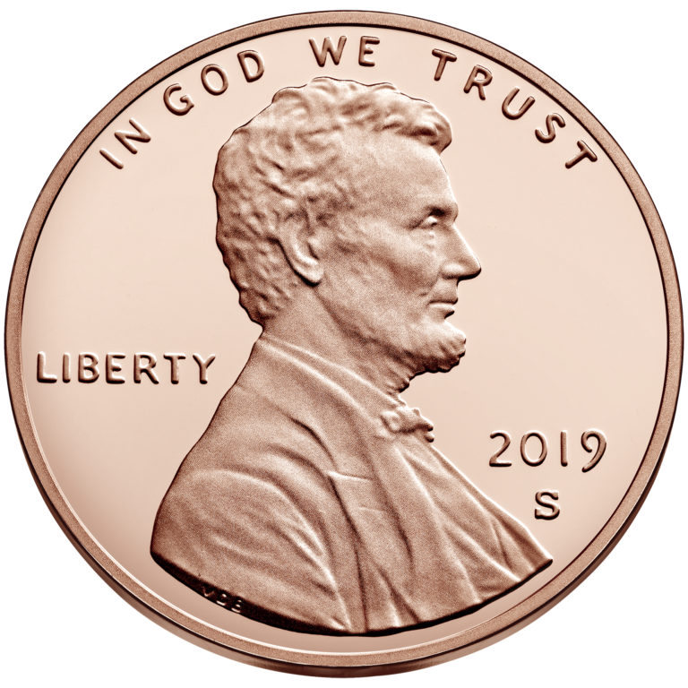 2019 Lincoln Penny Proof Obverse San Francisco