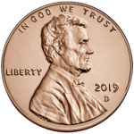 2019 Lincoln Penny Uncirculated Obverse Denver
