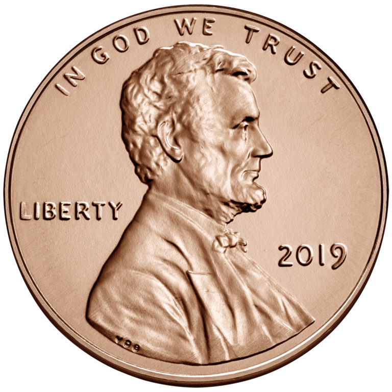 2019 Lincoln Penny Uncirculated Obverse Philadelphia