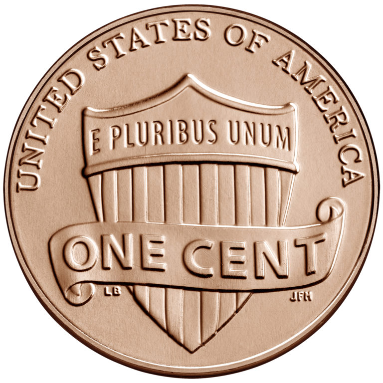 2019 Lincoln Penny Uncirculated Reverse