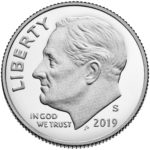 2019 Roosevelt Dime Proof Obverse San Francisco