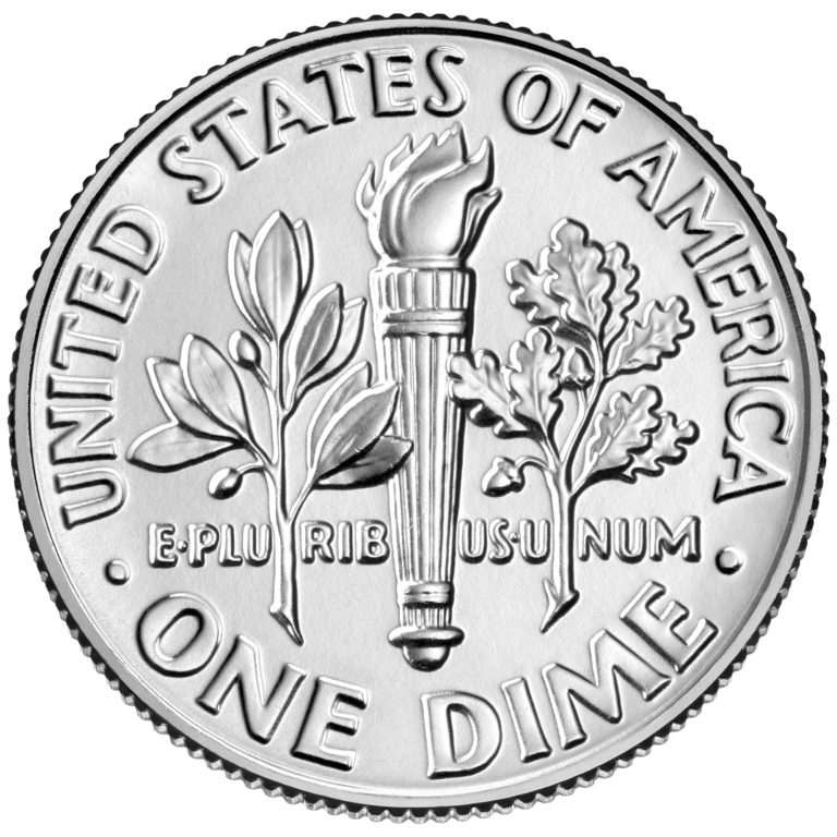 2019 Roosevelt Dime Uncirculated Reverse