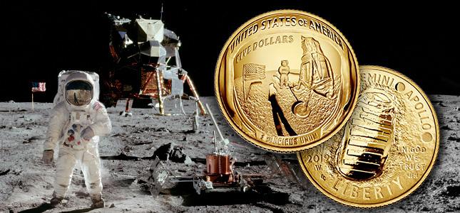Apollo 11 50th Anniversary apollo Commemorative Coin (image from US Mint)