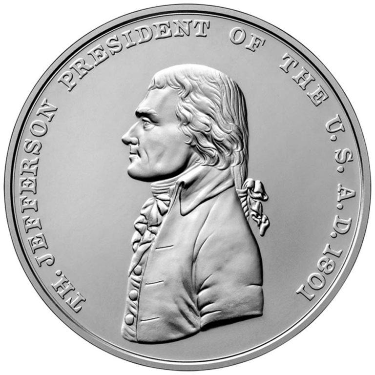 Thomas Jefferson Presidential Silver Medal Obverse