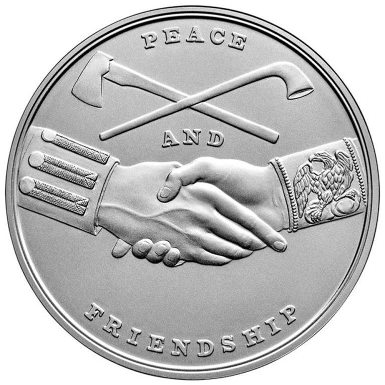 Thomas Jefferson Presidential Silver Medal Reverse
