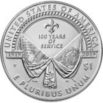 2019 American Legion 100th Anniversary Commemorative Silver Uncirculated One Dollar Reverse