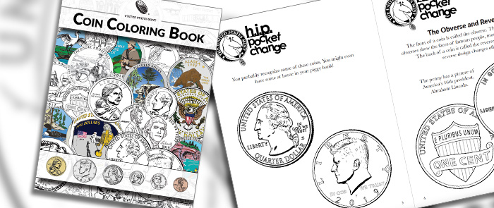 Coin Coloring Book kids homepage hero