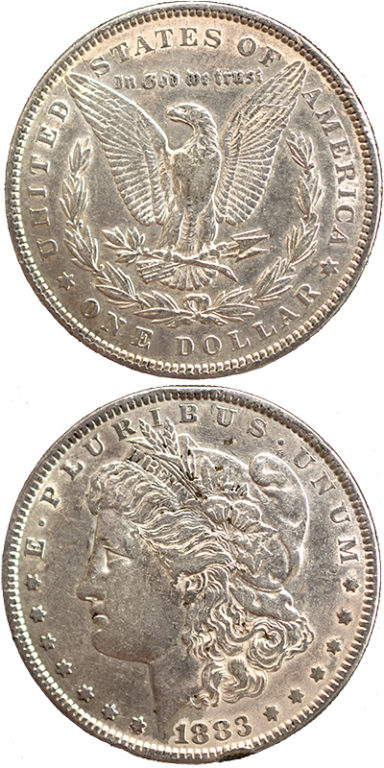 Morgan Silver Dollar: The Mint produced large quantities of the Morgan dollar, which later got melted down or stored in Treasury vaults. Years later, the dollars in the vaults were rediscovered and became popular with collectors.