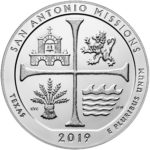 2019 America the Beautiful Quarters Five Ounce Silver Bullion Coin San Antonio Missions Texas Reverse