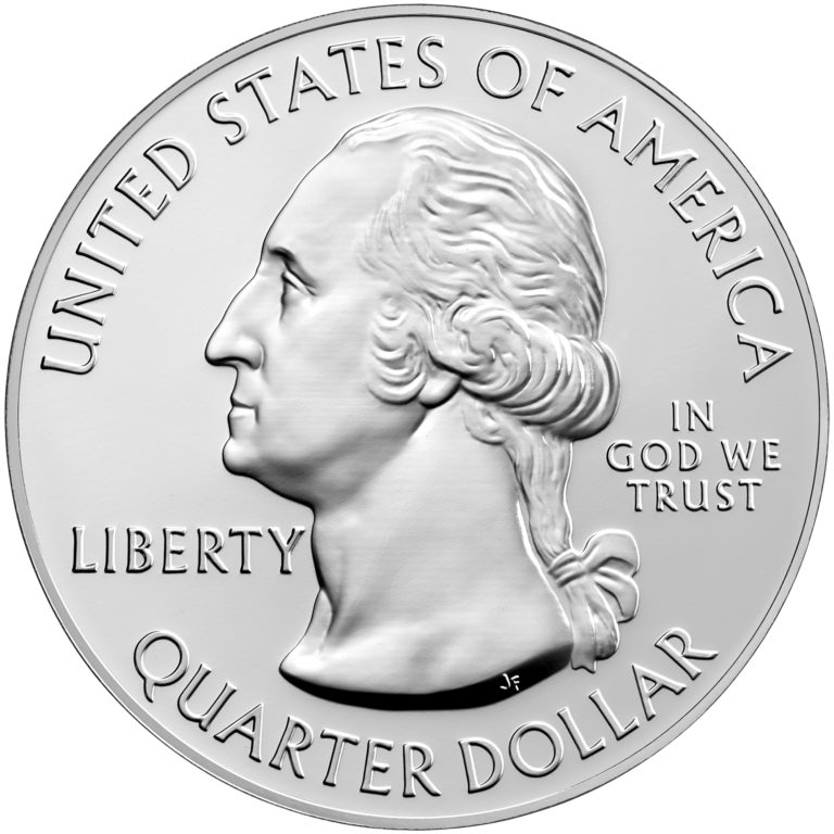 2019 America the Beautiful Quarters Five Ounce Silver Bullion Coin War in the Pacific Guam Obverse