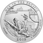 2019 America the Beautiful Quarters Five Ounce Silver Bullion Coin War in the Pacific Guam Reverse