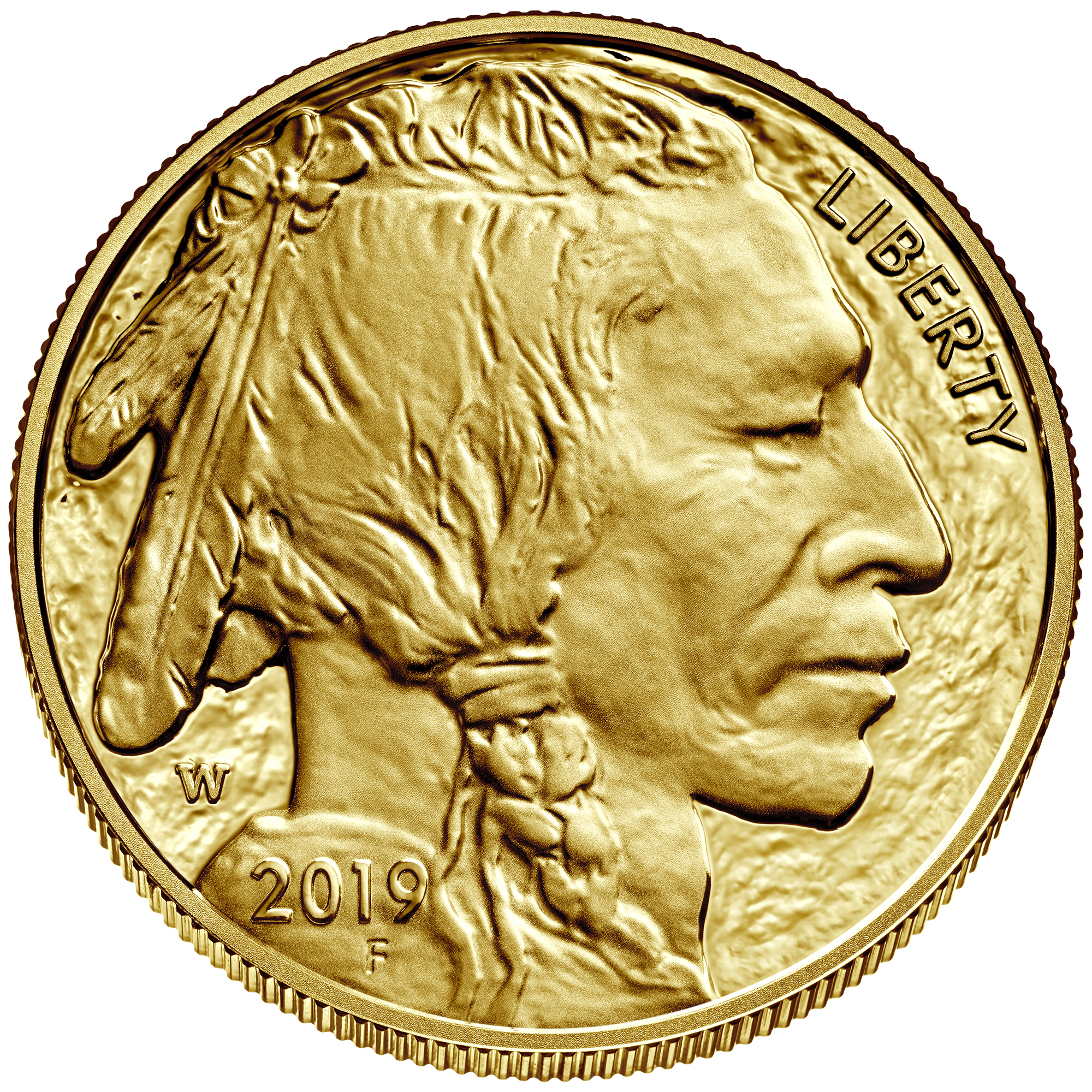 2019 American Buffalo One Ounce Gold Proof Coin Obverse