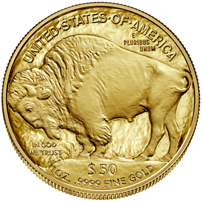 2019 American Buffalo One Ounce Gold Proof Coin Reverse