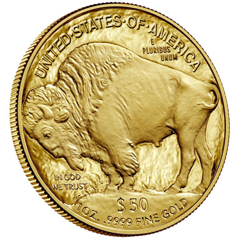 2019 American Buffalo One Ounce Gold Proof Coin Reverse Angle