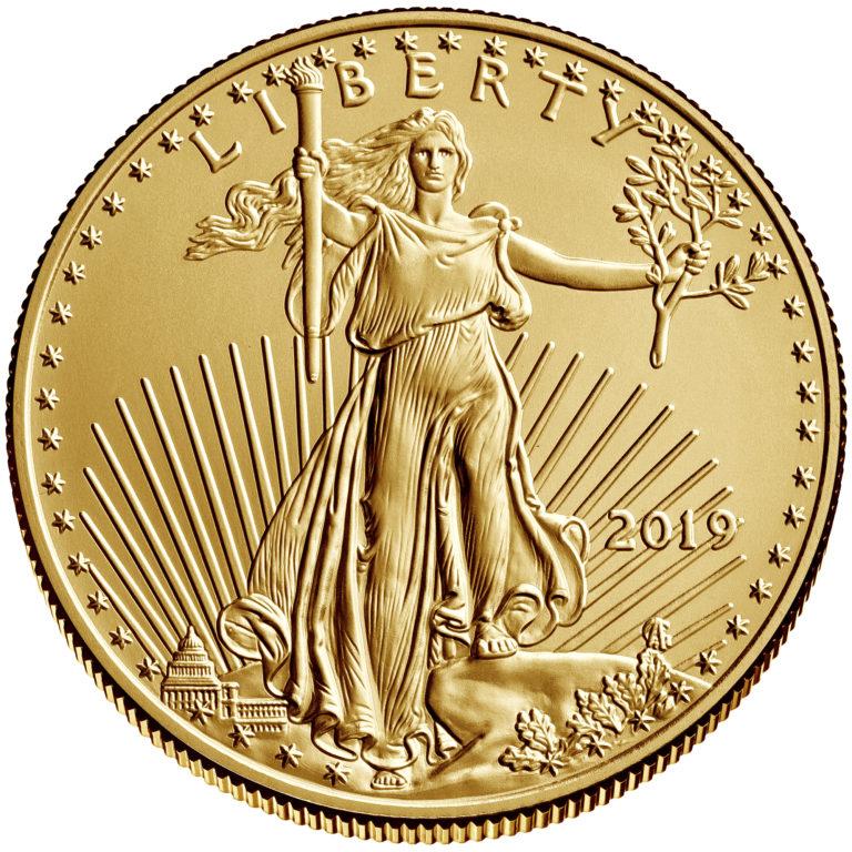 2019 American Eagle Gold One Half Ounce Bullion Coin Obverse