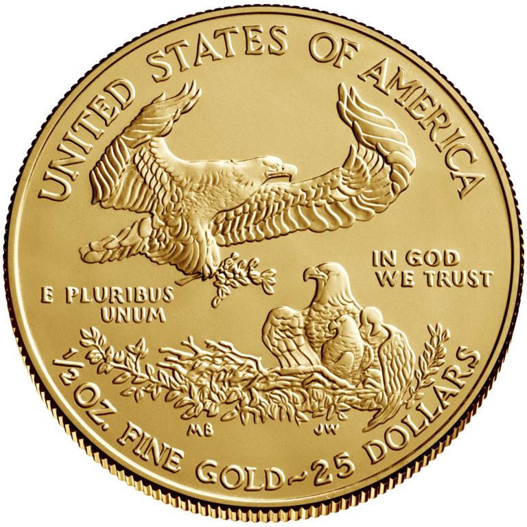 2019 American Eagle Gold One Half Ounce Bullion Coin Reverse