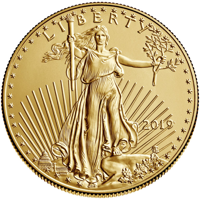 2019 American Eagle Gold One Ounce Bullion Coin Obverse