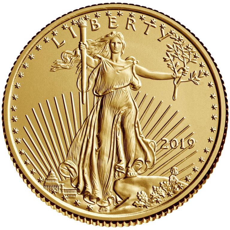 2019 American Eagle Gold One Quarter Ounce Bullion Coin Obverse