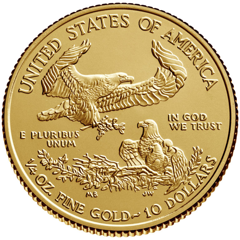 2019 American Eagle Gold One Quarter Ounce Bullion Coin Reverse