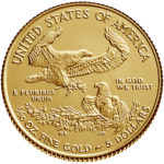 2019 American Eagle Gold One Tenth Ounce Bullion Coin Reverse