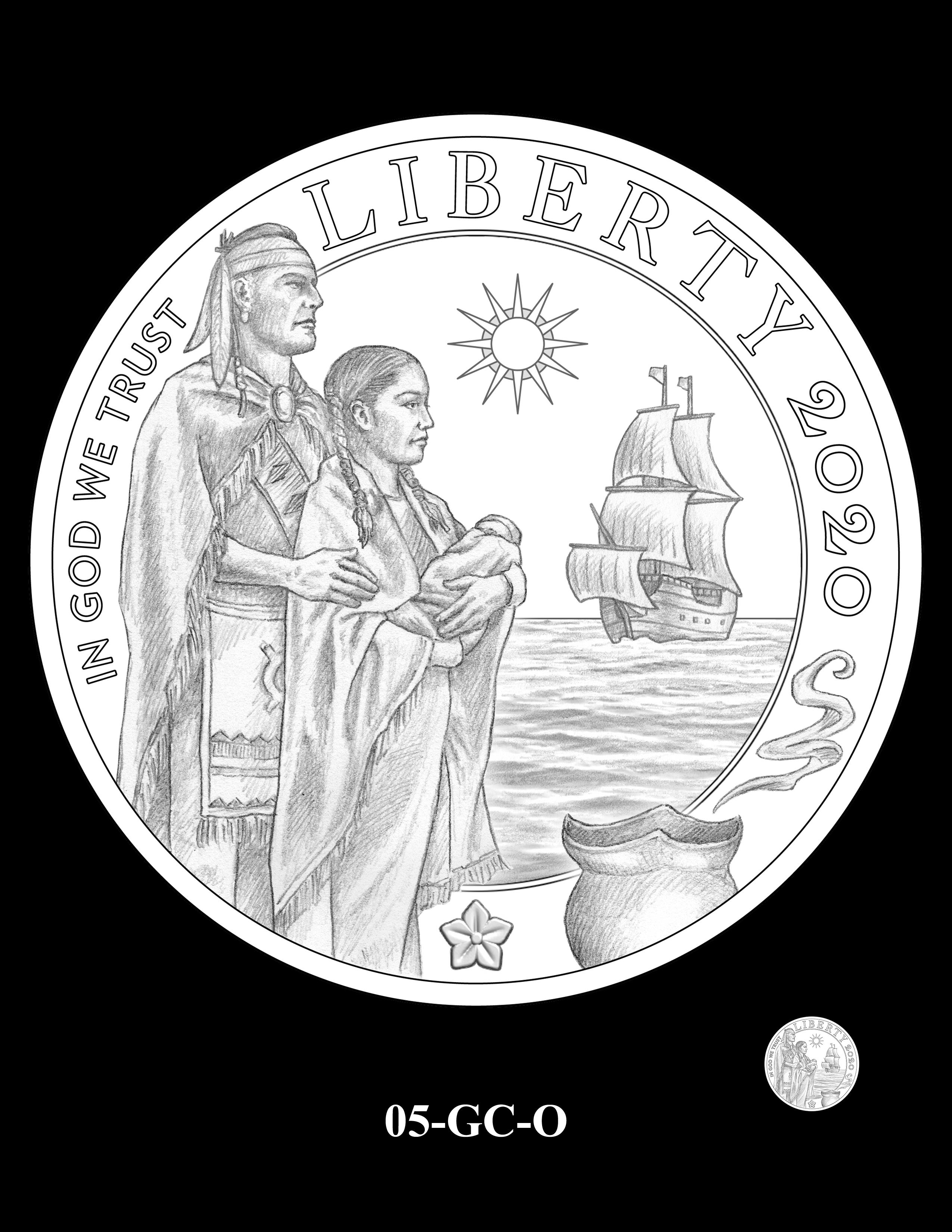 05-GC-O - 2020 Mayflower 400th Anniversary 24K Gold Coin & Silver Medal Program