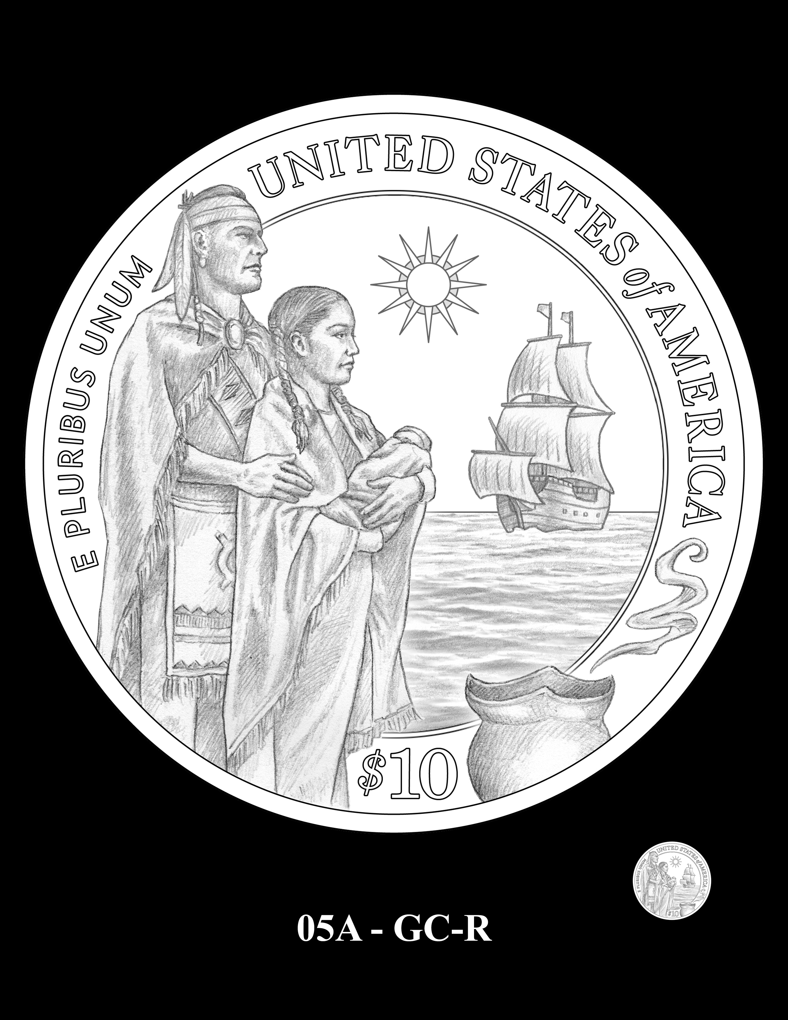05A-GC-R - 2020 Mayflower 400th Anniversary 24K Gold Coin & Silver Medal Program
