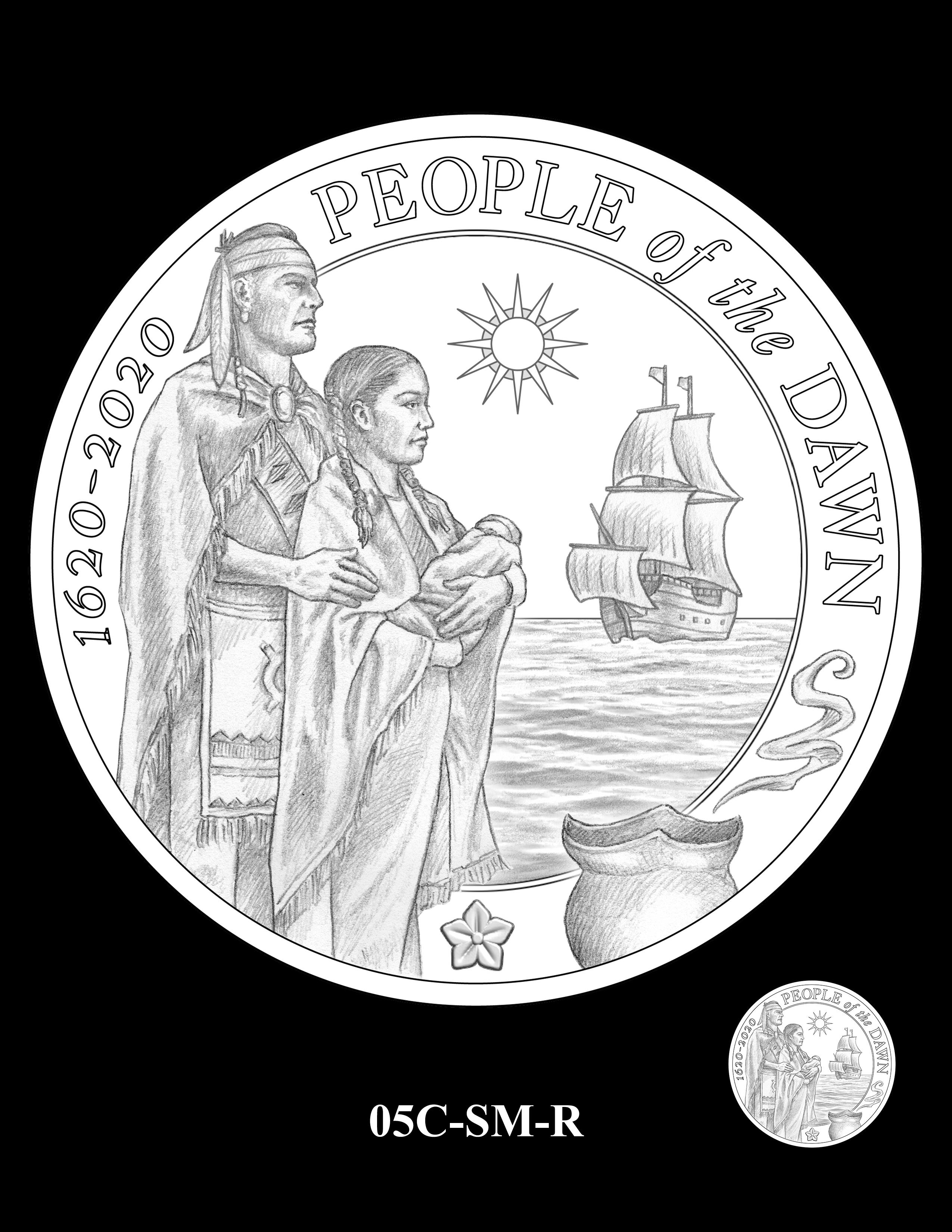 05C-SM-R - 2020 Mayflower 400th Anniversary 24K Gold Coin & Silver Medal Program