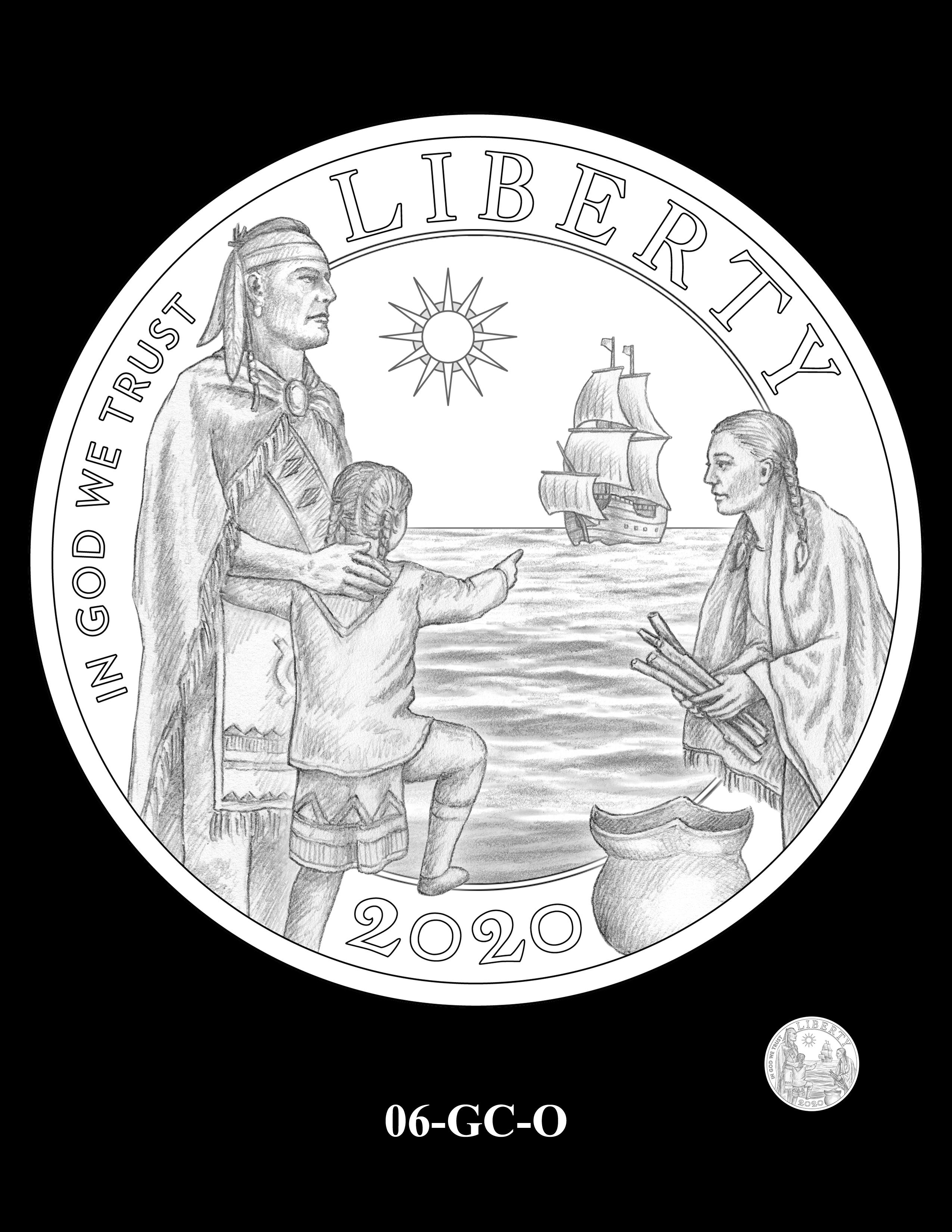06-GC-O - 2020 Mayflower 400th Anniversary 24K Gold Coin & Silver Medal Program