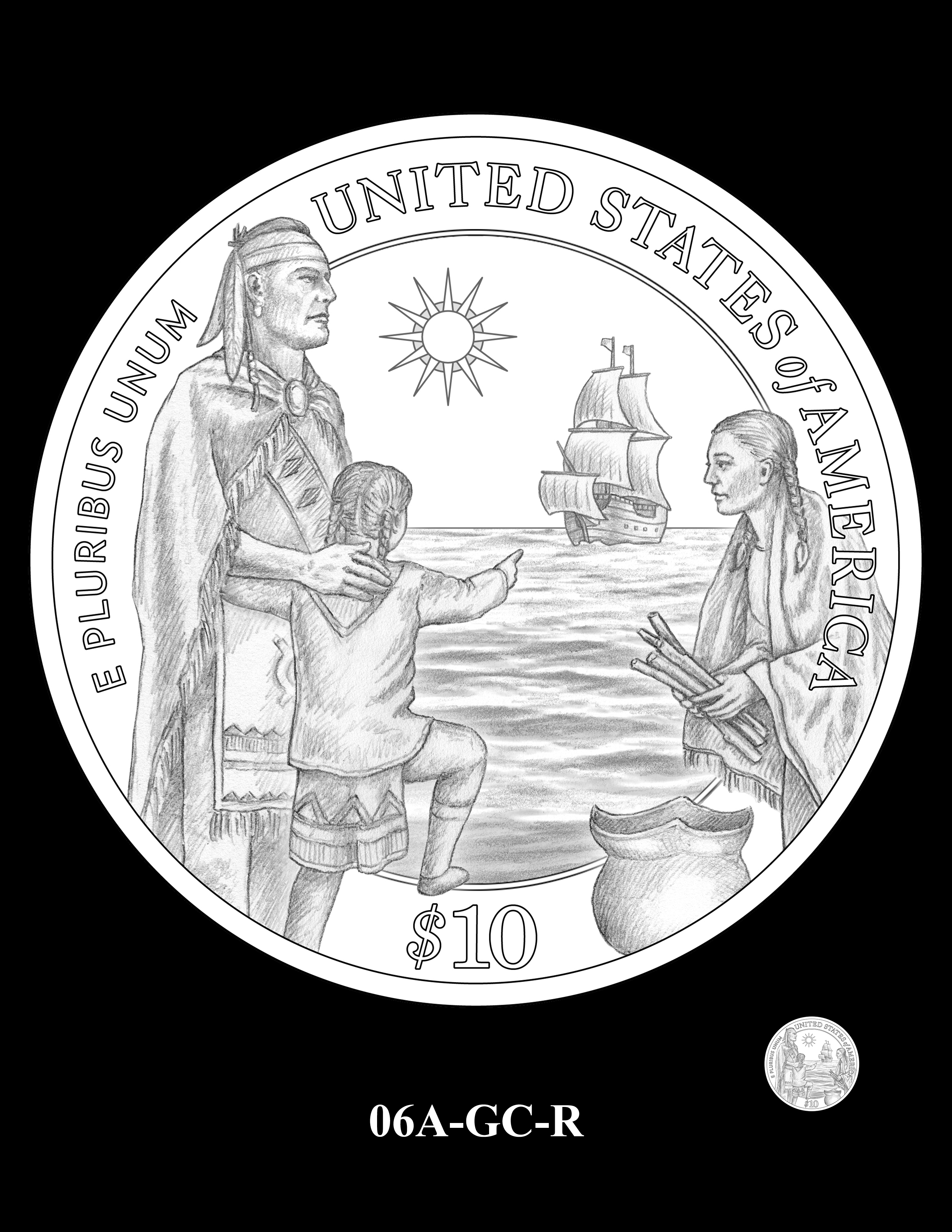 06A-GC-R - 2020 Mayflower 400th Anniversary 24K Gold Coin & Silver Medal Program
