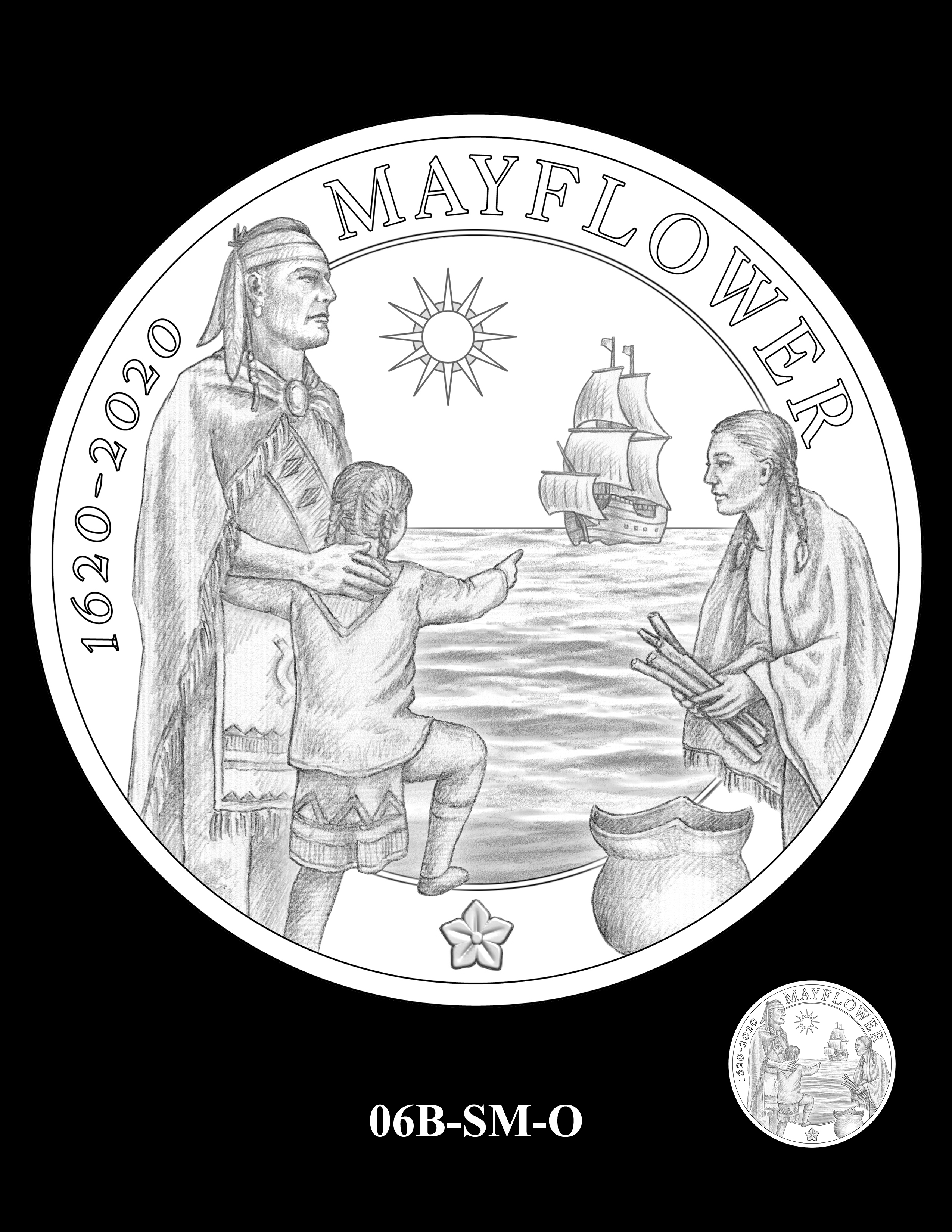 06B-SM-O - 2020 Mayflower 400th Anniversary 24K Gold Coin & Silver Medal Program