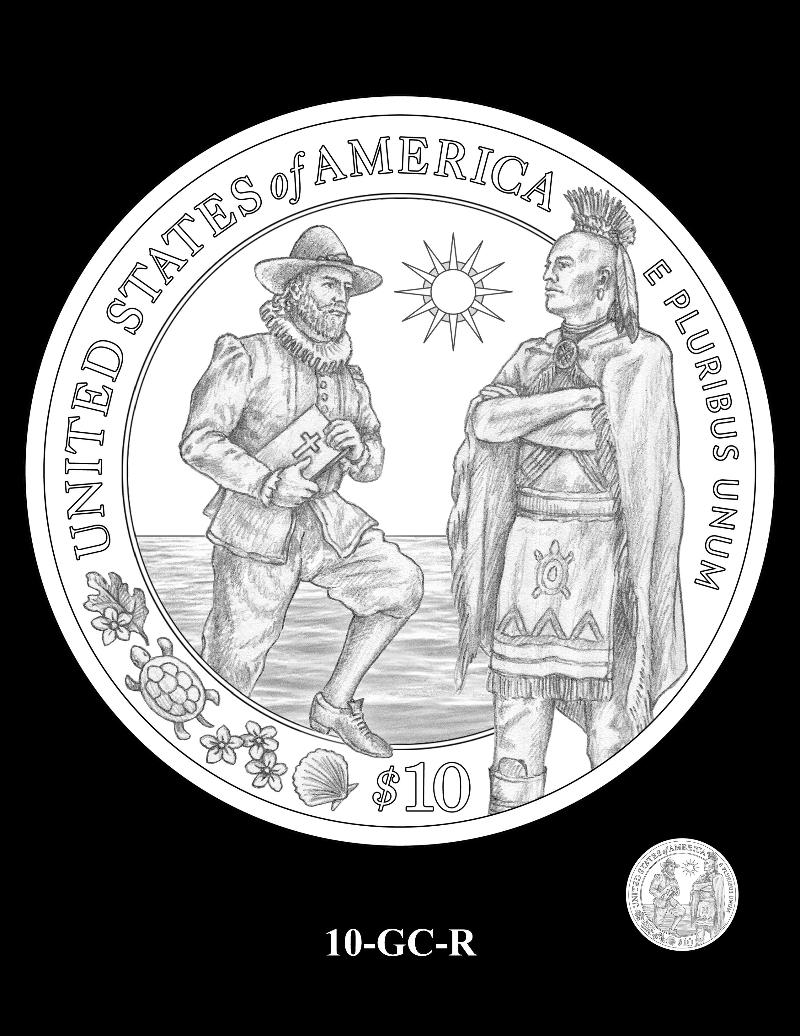 10-GC-R - 2020 Mayflower 400th Anniversary 24K Gold Coin & Silver Medal Program
