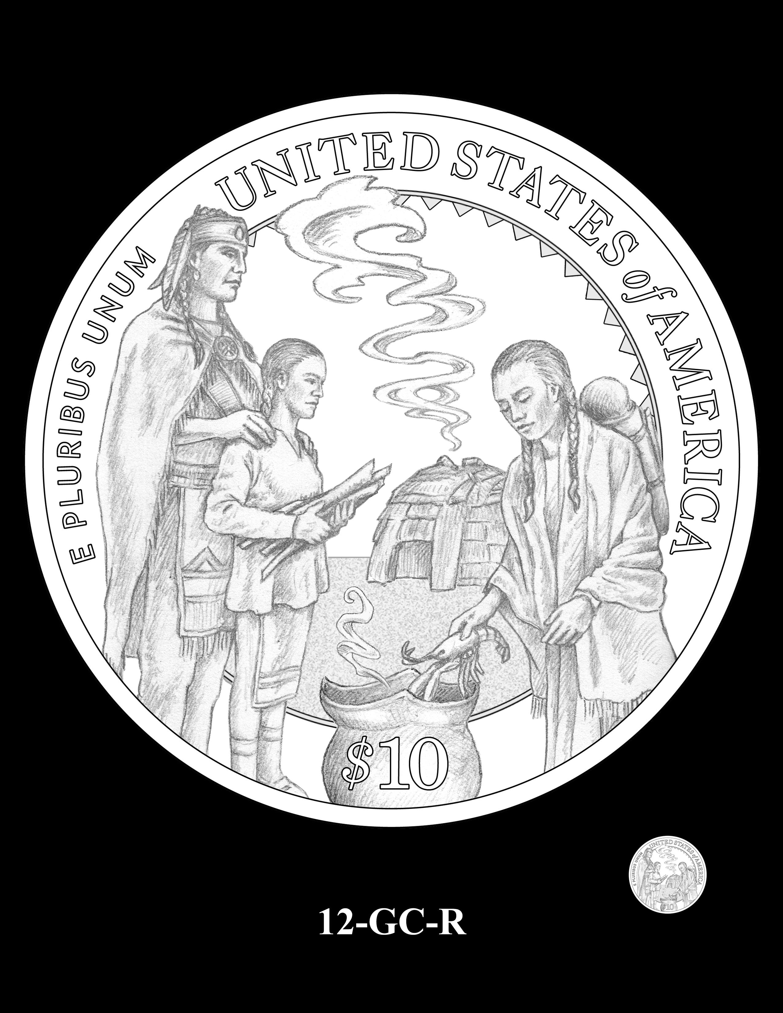 12-GC-R - 2020 Mayflower 400th Anniversary 24K Gold Coin & Silver Medal Program