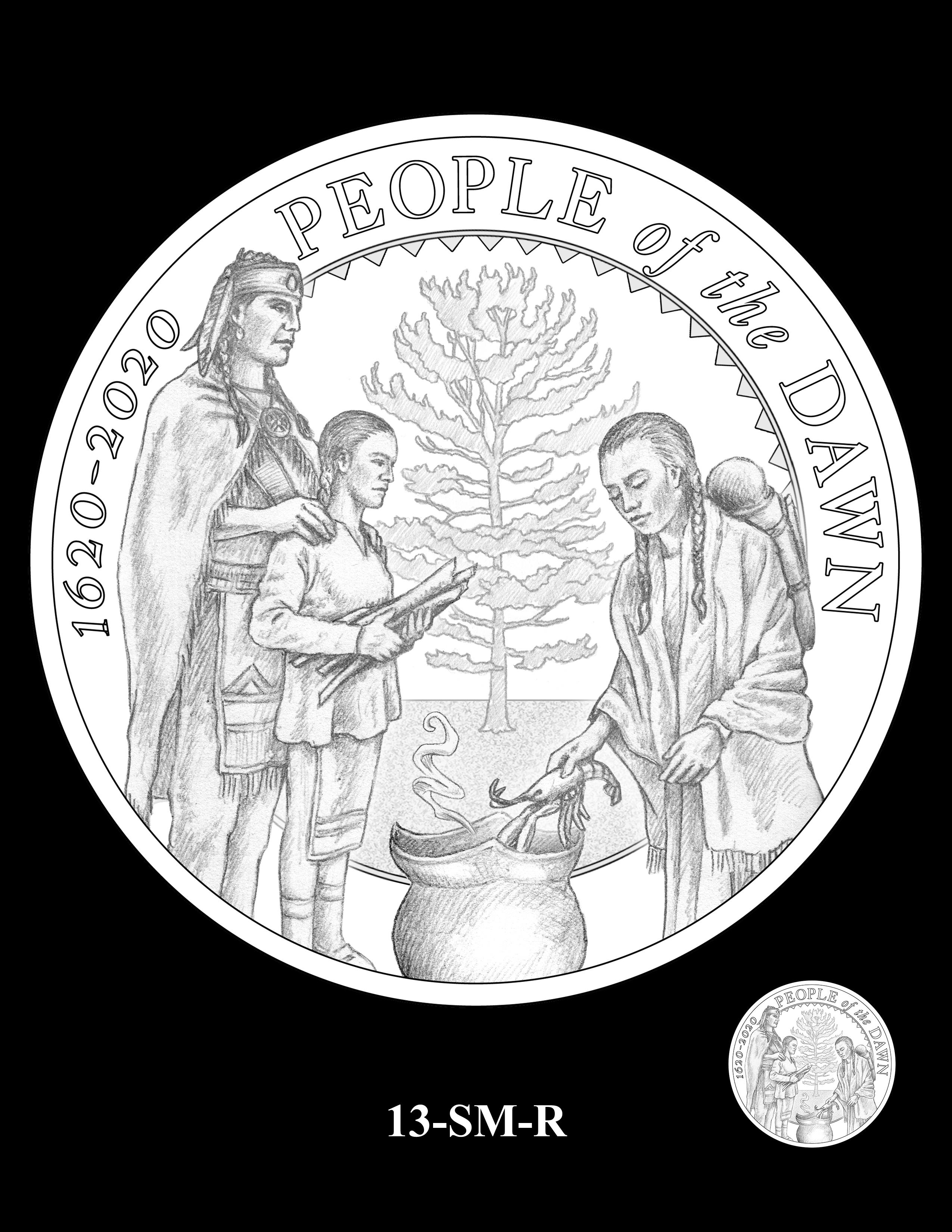 13-SM-R - 2020 Mayflower 400th Anniversary 24K Gold Coin & Silver Medal Program