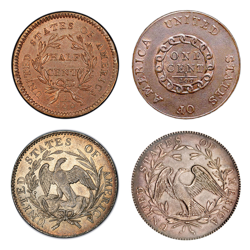 Reverse designs in the 1790s.