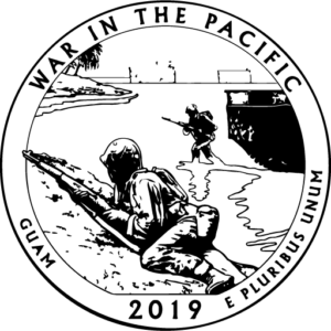 2019 America the Beautiful War in the Pacific Guam Kids Coloring Page icon