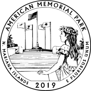 2019 America the Beautiful American Memorial Park Northern Marianas Islands (NMI) Kids Coloring Page icon