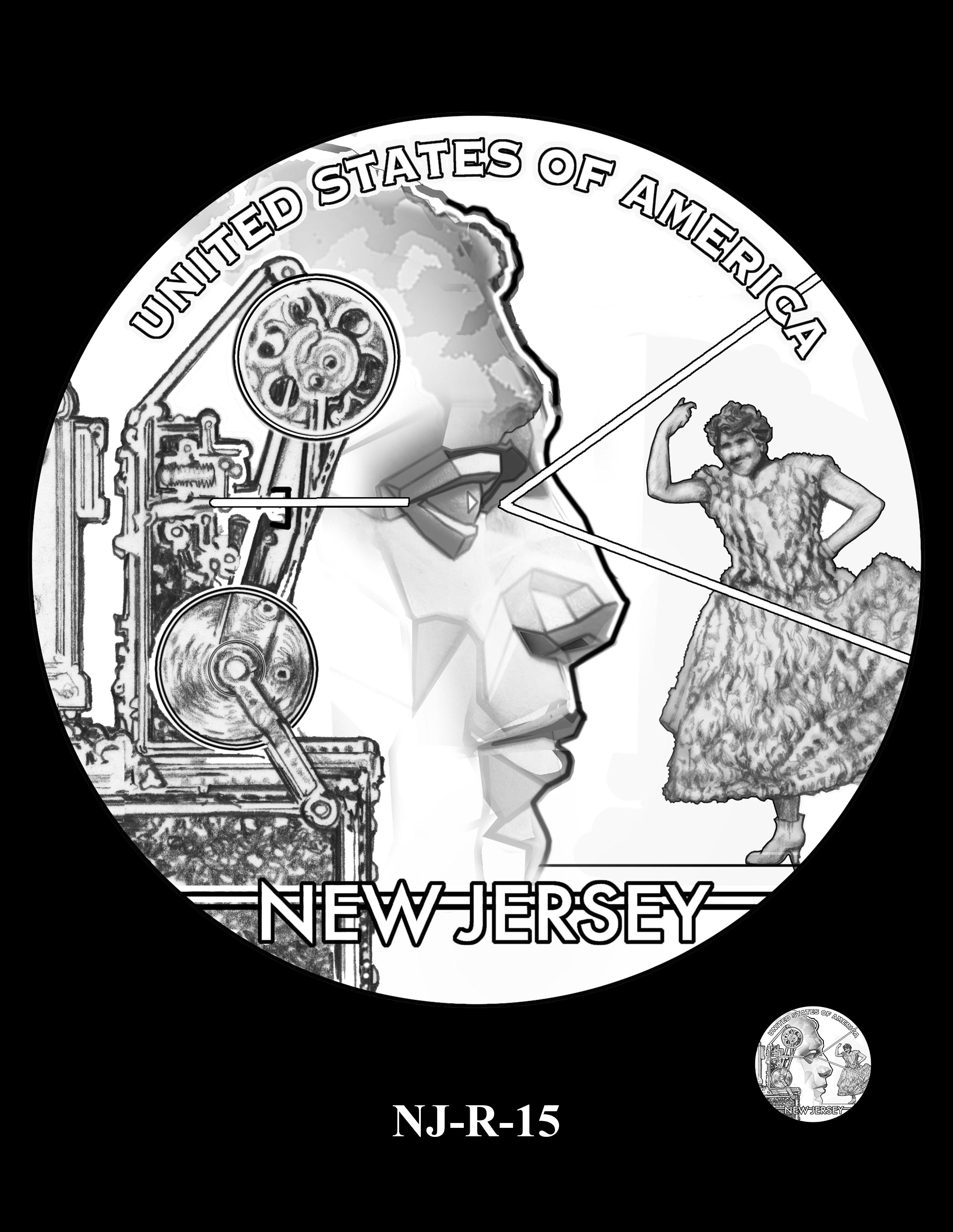NJ-R-15 -- 2019 American Innovation $1 Coin Program