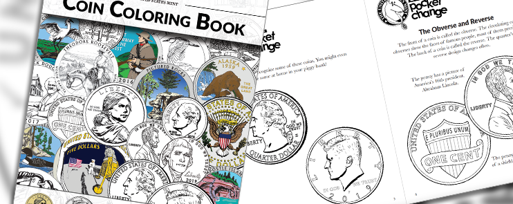 2019 Coin Coloring Book kids homepage feature