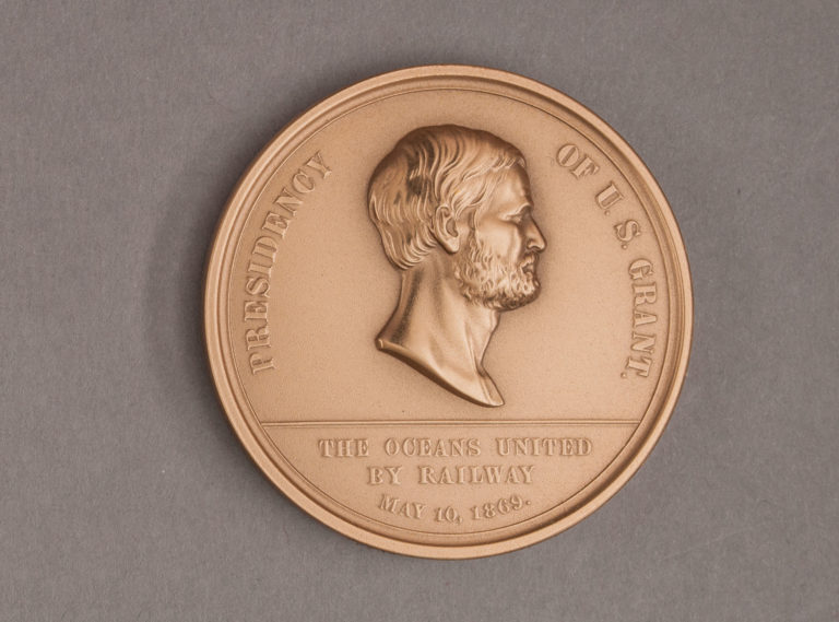 1869 Pacific Railroad Medal Obverse