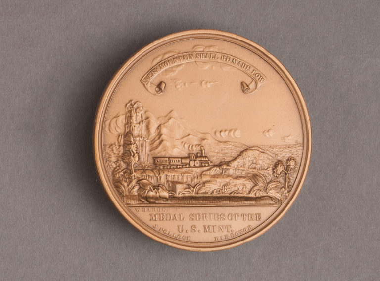 1869 Pacific Railroad Medal Reverse