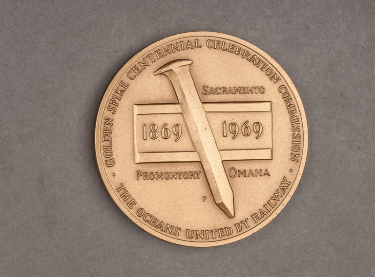 1969 Transcontinental Railroad Anniversary Medal Obverse